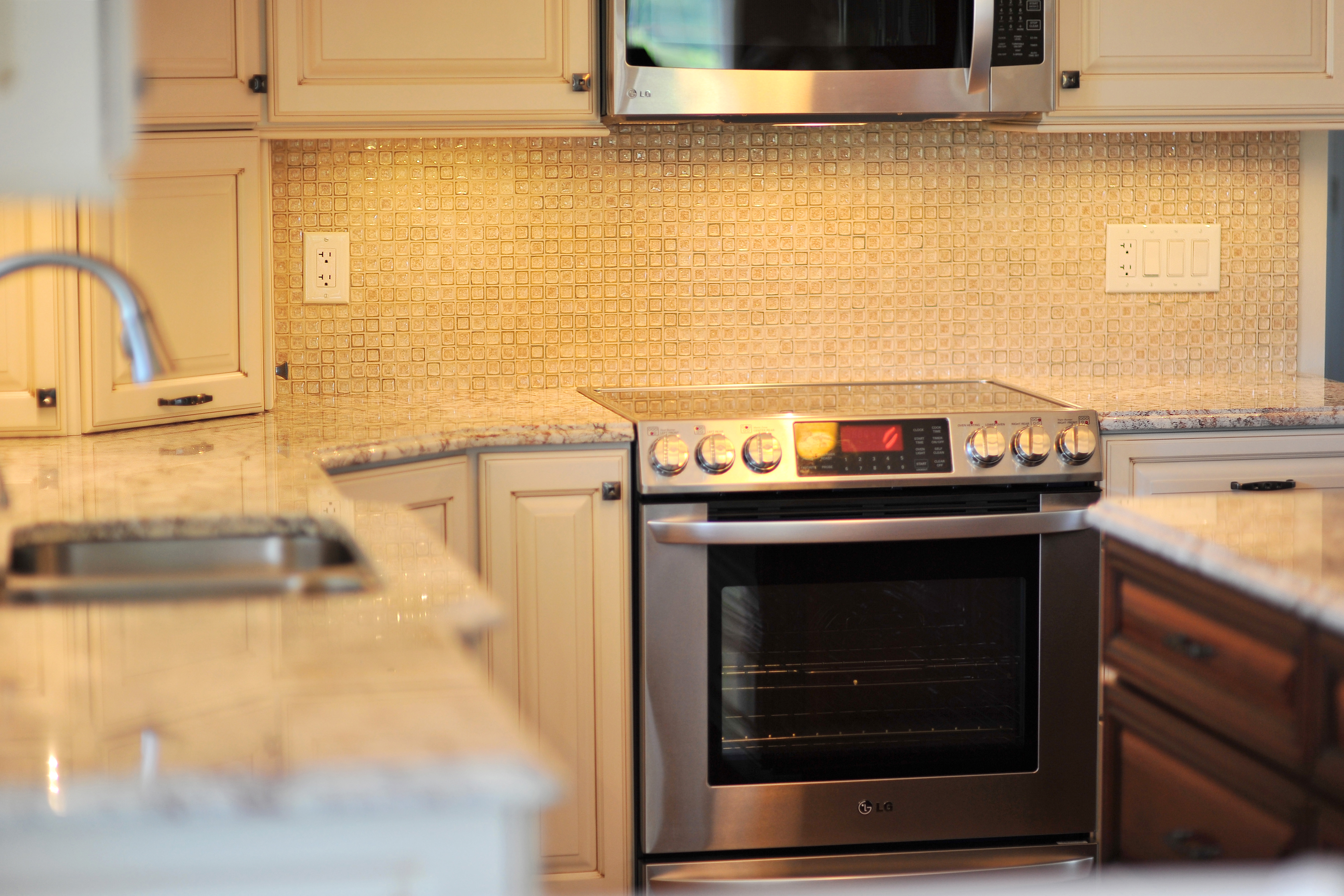 Antique crackle backsplash tile