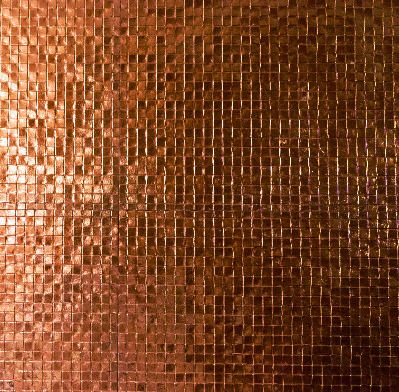 Copper Mosaic Tile Backsplashes