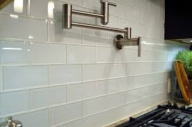 glass subway tile backsplash BELK Tile