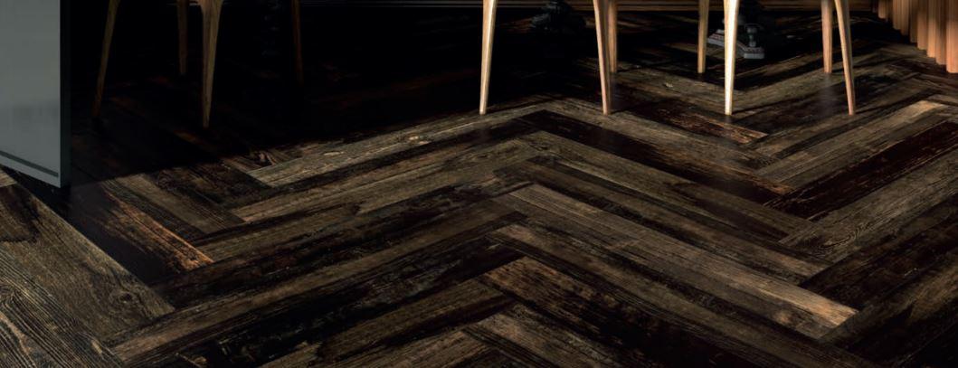 Herringbone tile floor belktile.com