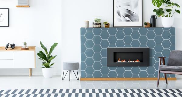 Hexagon Fireplace Tiles