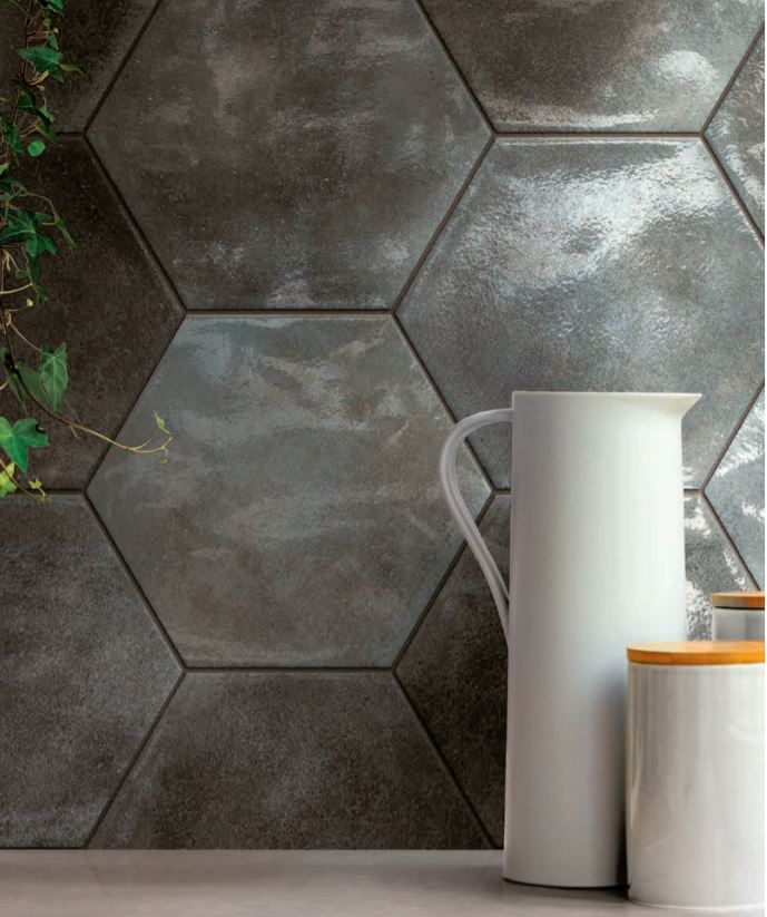 Hexagon Kitchen Tile Backsplashes