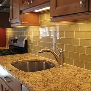 Superbe Glass Subway Tiles Khaki Color