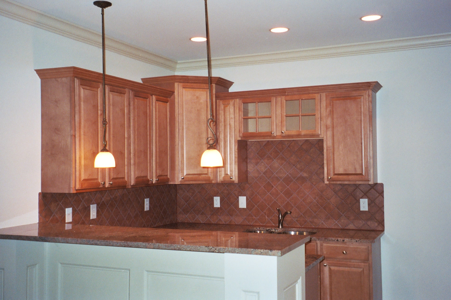 ending spot for kitchen backsplash tile design