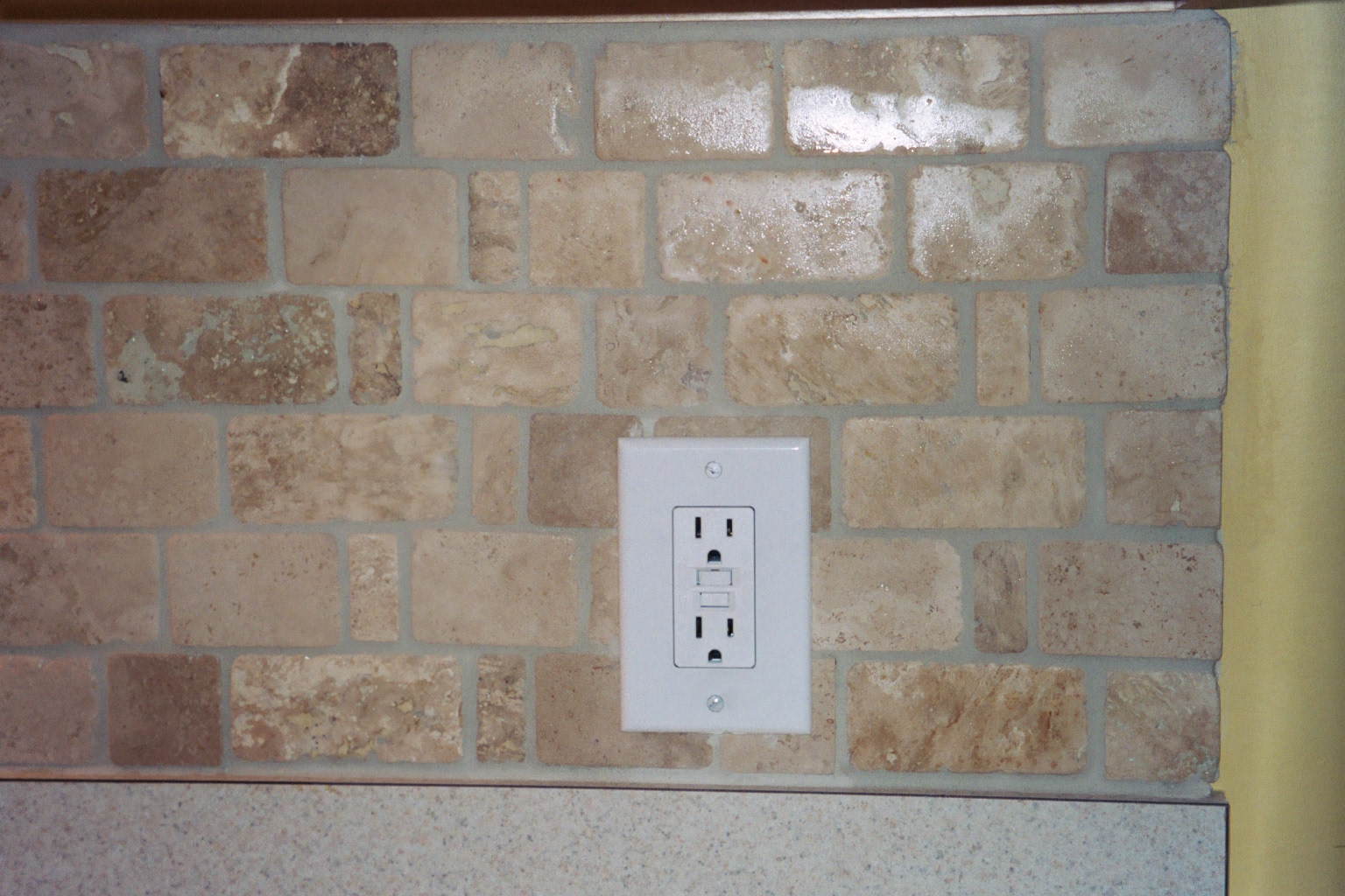 natural stone subway tile ideas