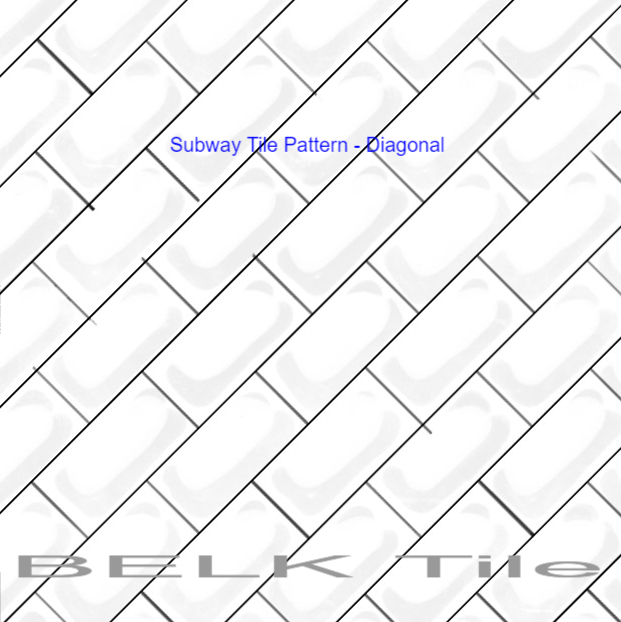 Subway Tile Pattern Diagonal
