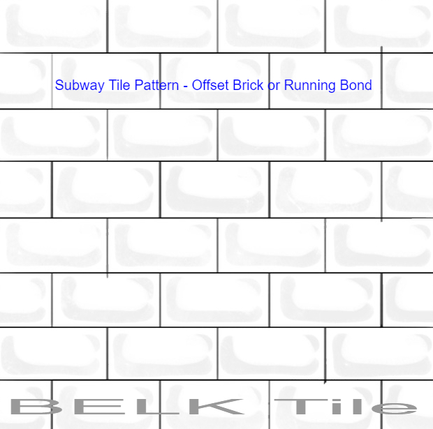 Kitchen Backsplash Subway Tile Pattern Offset Brick Or Running Bond Fascinating Running Bond Pattern