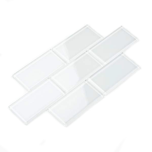 3 x 6 Glass Subway Tile Backsplash